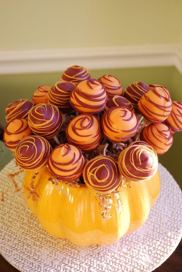 Fall/Thanksgiving Cake Pop Display...such a cute idea