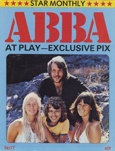STAR MONTHLY POSTER MAGAZINE - ABBA