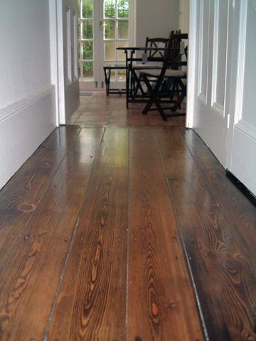 brown oak stained & laquered restored victorian pine floors