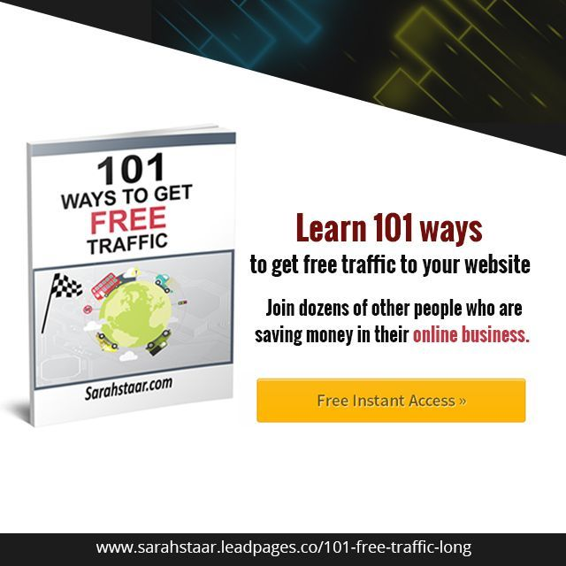 """"""" 101 ways to get free traffic"""" is a book written by a UK based affiliate marketer Sarah Staar in which she described the most simple and easy ways to generate instant traffic.  https://et148.isrefer.com/go/101trafficlong/valued  #Free #Website #Traffic #Mastermind #SarahStaar #Tutorial #Earn #Money #Online #Leads"""