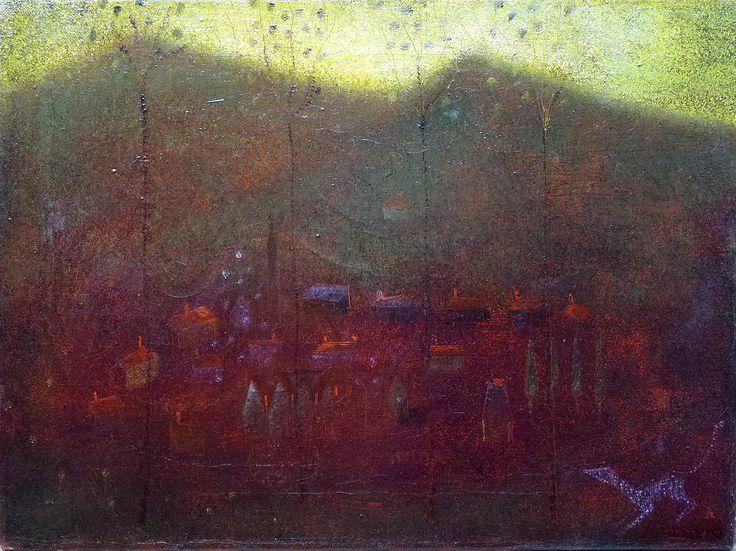 Aad de Haas (1920-1972), Gulpen bij nacht, 1949