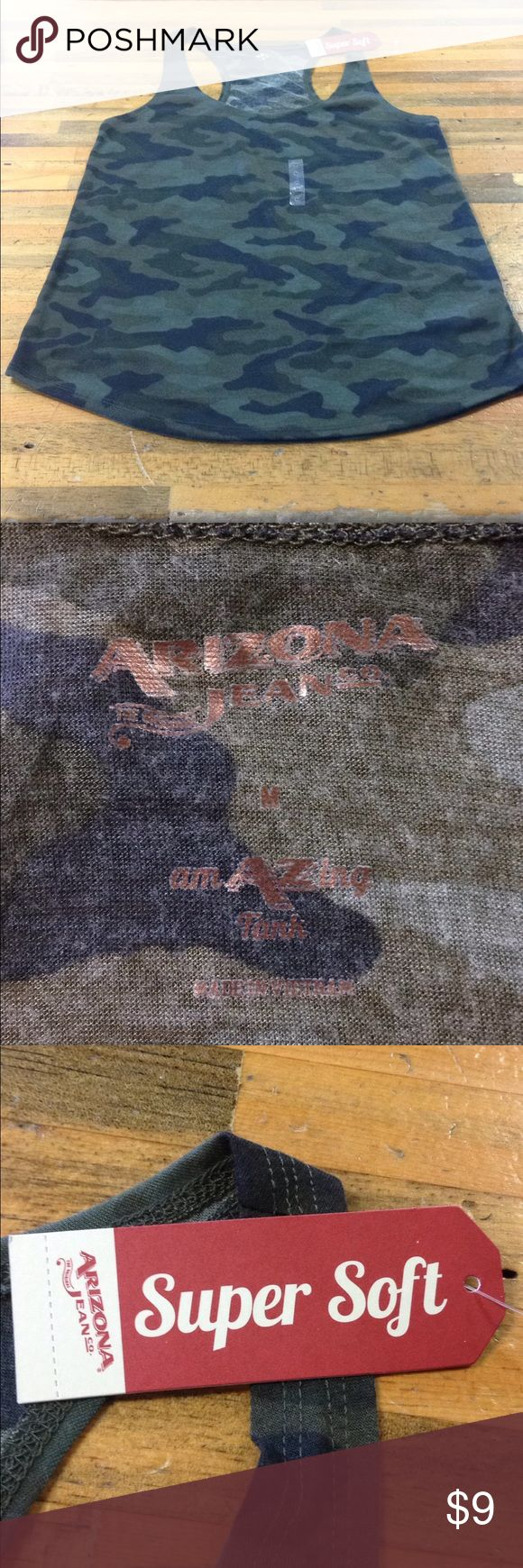 Women's camo tank top Women's Arizona Jean co. camo tank top. Brand new; great condition! Arizona Jean Company Tops Tank Tops