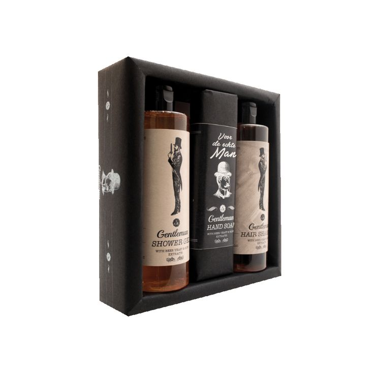Gift pack Gentleman (Beer): Shower Gel 250 ml, Hair Shampoo 250 ml, Soap 160g. Gift Set for Gentleman, Real Men, Man, Opa, Papa,Father, Father's Day..