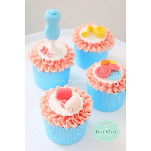 Happy #birthday Mum! #cupcakes #sewing #bakeaboocakes #sugarart | Flickr - Photo Sharing!