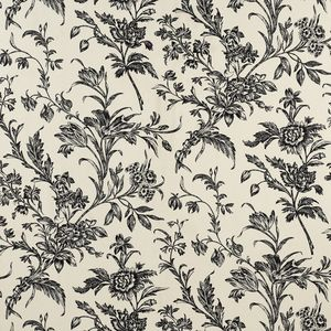 Lloyd Charcoal/Biscuit Floral Wallpaper