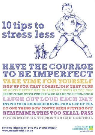 """Have the Courage to Be Imperfect"", ""Spend time with people who make you feel good"" and other tips to stress less"