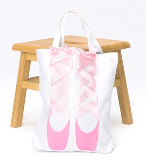 Check out our awesome tutorial on how you can make this adorable bag! Perfect for toting pointe shoes and tights to class! #DIY #Ballet #Crafts