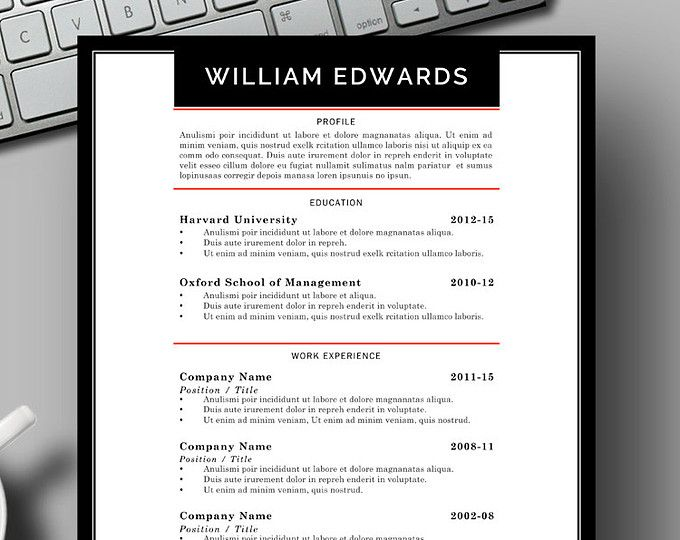 83 best Two Page CV Template - Word images on Pinterest Resume - minutes word template