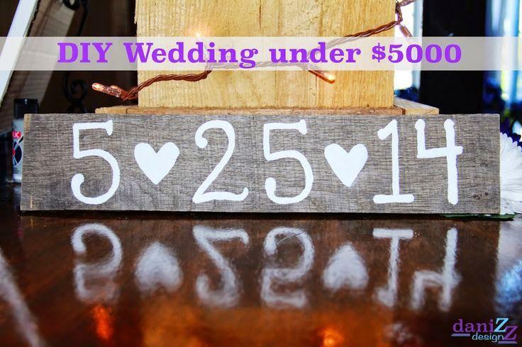 DIY Wedding under $5000 - several cheap wedding ideas and advice