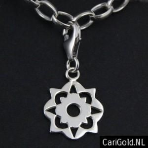 #Somewhere Else - #Marillion - Jewellery - Handmade Sterling silver charm/bead (16mm)- PENSOM16L - Wearable on two sides - to wear on a #bracelet - Designed by Karin Hengeveld - to order check - www.CariGold.nl