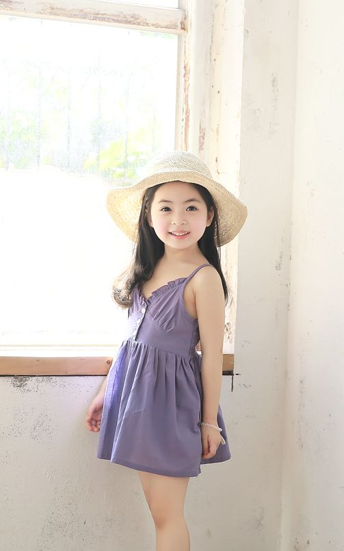 Korea children's No.1 Shopping Mall. EASY & LOVELY STYLE [COOKIE HOUSE] button, point One Piece / Size : S, M, L / Price : 7.50 USD Casual and feminine One Piece. Banding can be worn comfortably in the chest. Beach look of soft, lightweight cotton material is GOOD!  (Purple, Red / 7 ~ 19 to No.)  #kidsops #kidsdress #casual #ops #koreakids #kids #kidsfashion #cute #COOKIEHOUSE #OOTD
