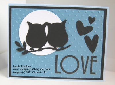 Laurie's Stampin' Spot: April 2011 Anniversary Card using Owl Punch