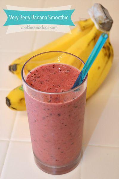 Very Berry Banana Smoothie Recipe like Jamba Juice Razzmatazz Recipe