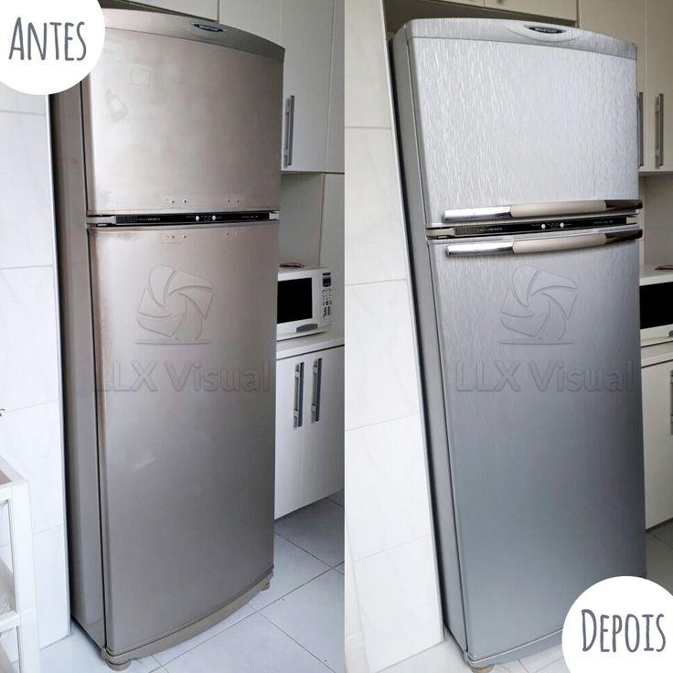 Envelopamento de geladeira com aço escovado em São Paulo