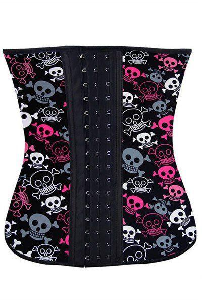 Grande Taille Corsets Halloween Playful Skulls 4 Acier Os Serre Taille – Modebuy.com