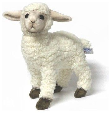 Hansa White Kid Sheep Lamb farmhouse-kids-toys-and-games