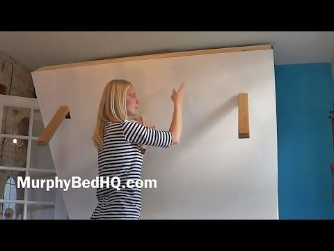 Murphy Bed - Homemade Murphy Bed With Storage (Graham) - YouTube