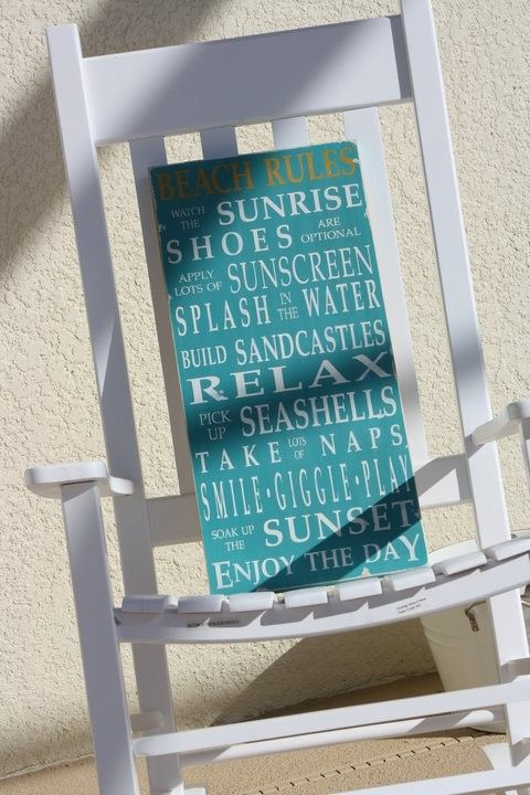 Beach rules vintage sign. @kristi quill {bop}