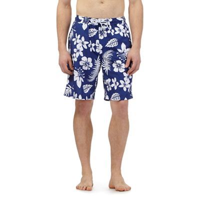 Maine New England Navy floral print swim shorts   Debenhams