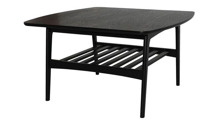 Svart Älgen soffbord i trä. Bord, vardagsrum. http://sweef.se/bord/154-algen-soffbord-80x80cm.html
