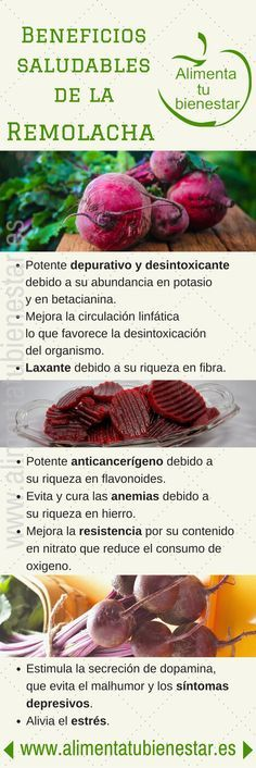#Infografia Beneficios para la salud de la remolacha #alimentatubienestar
