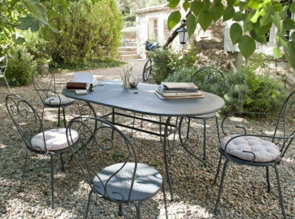 deco fer forge pour jardin retro mobilier