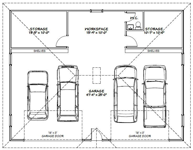 Mlwa12 uploaded this image to 39 garages 48x36g1 39 see the for Garage dimensions 2 5 car