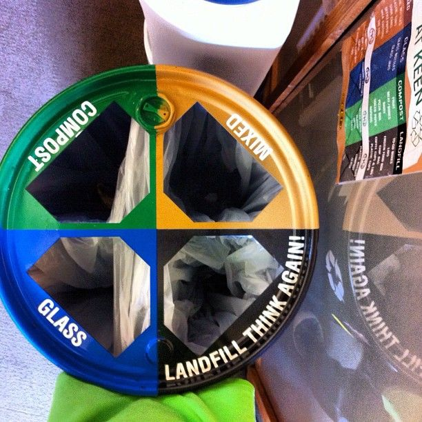 We Made Our Recycling Bins Out Of Used Soy Oil Drums