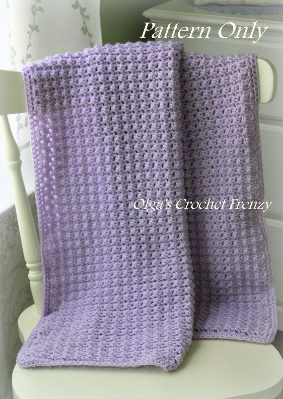 Crochet Baby Blanket Pattern, Easy to Make,