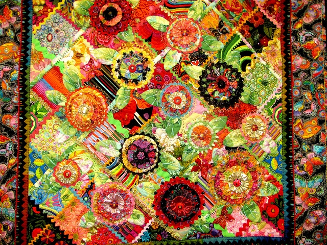 Intricate details such as applique and 3D effects were used on some of the beautiful quilts found at the 2012 Quilt Expo.