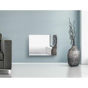 Radiateur électrique panneau rayonnant Miroir 2000 w LCD - avec système anti-salissure - Thermostat électronique programmable avec écran LCD  - Programme hebomadaire personnalisable - IP24 - Classe II- Norme NF - CE - Garantie 2 ans
