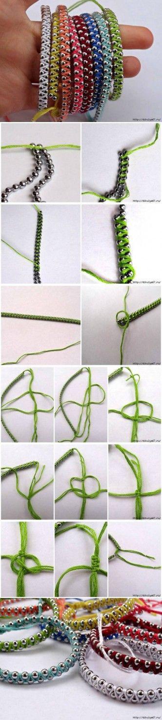 DIY Rainbow Friendship Bracelets DIY Projects