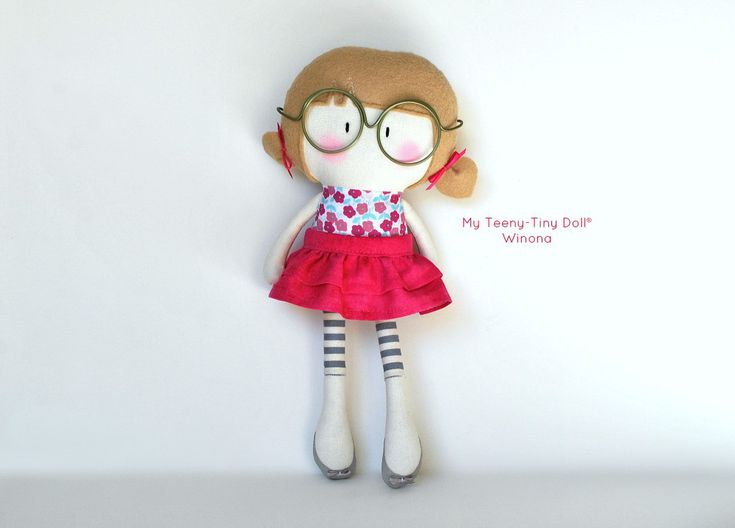 "My Teeny-Tiny Doll® Winona / 11"" Handmade Fashion Dolls by Cook You Some Noodles®"