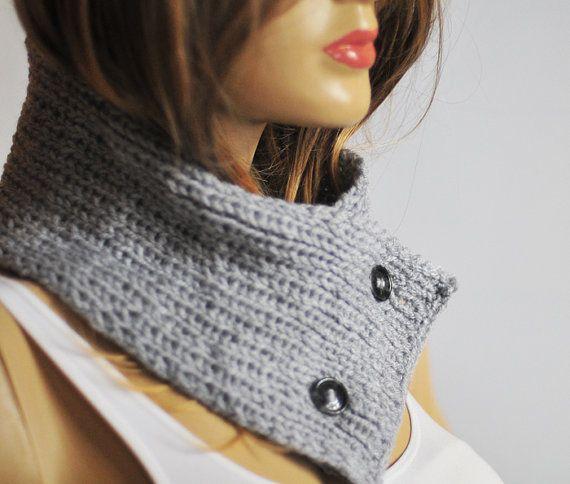 Cowl Cowl choker  hand knit  winter cowl Cuff bracelet by selenayy #knit  #ChunkyScarf  #handmade #cowl #winter