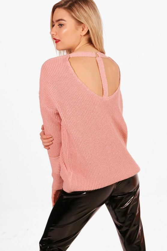 Isla D-Ring Strap Neck Choker Jumper