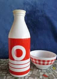 italian glass milk bottles - Google Search