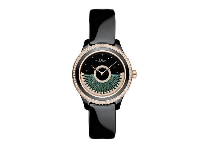 Dior VIII Grand Bal Fil de Soie - The @dior Grand Bal watch collection pays homage to the couture and talent of the seamstresses of La Maison de Dior. #diamonds #rosegold #Dior #luxurywatch #style #hautecouture