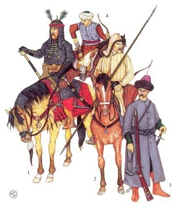 Crimean Tatar soldiers, 17th century