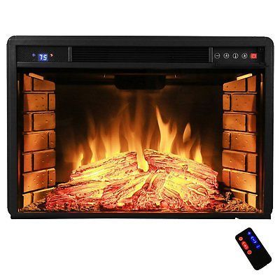 Electric Fireplace Insert With Heater