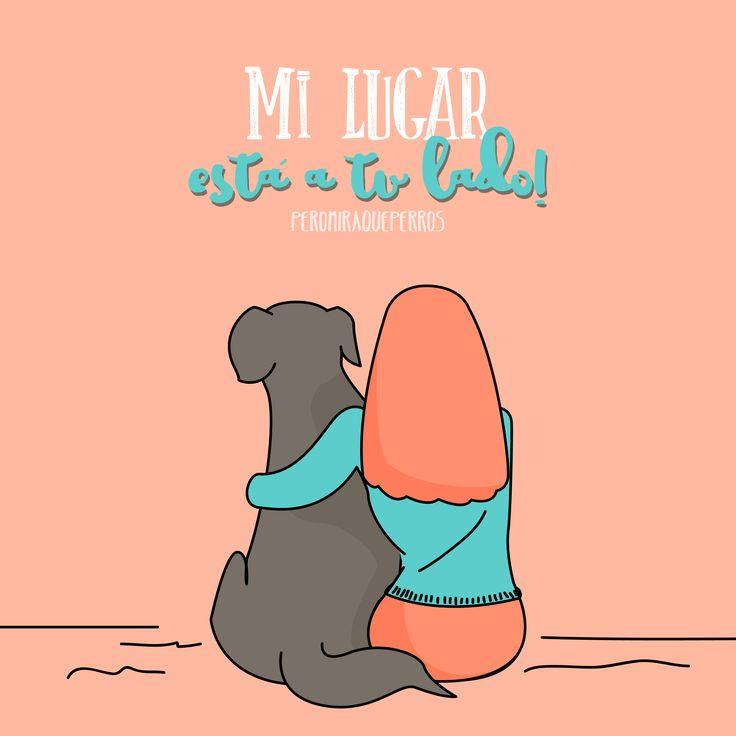 Art by Peromiraqueperros Mi perro siempre a mi lado #mascotas #perro #perros #animales www.peromiraqueperros.com