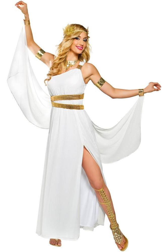 GREEK GODDESS VENUS COSTUME ROMAN ATHENA TOGA FEMALE WOMAN COSTUMES DRESS in Clothing, Shoes & Accessories, Costumes, Reenactment, Theater, Costumes | eBay