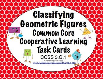 79 best math task cards images on pinterest math task cards common core math task cards classifying figures ccss 3g1 fandeluxe Gallery