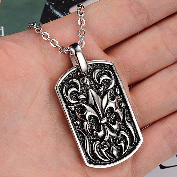 Ostan – collar con colgante para hombres de acero inoxidablenegro – nueva moda joyería | Joyería online, joyas de Plata y Oro.