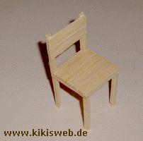 Stuhl aus Streichhölzern basteln - Streichholz basteln
