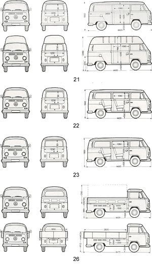 VW Type 2 Models | TheGoldenBug.com