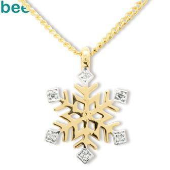 Buy Diamond Set Snowflake Pendant (BEE-65209) online at Chain Me Up