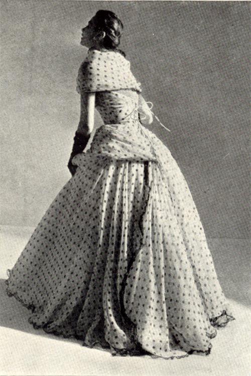Vintage Chic: Polka Dot Couture 6 Balmain 1952