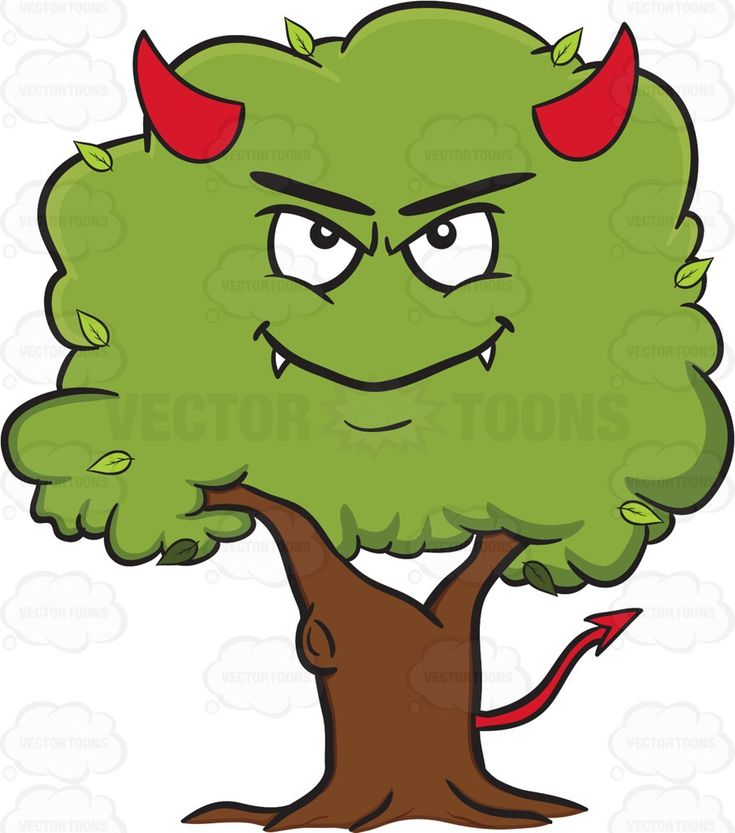 Devilish Looking Healthy Leafy Tree Emoji #arrow #bark #bigtree #botanical #botany #branch #branches #brown #buds #carbondioxide #comfort #devil #evil #fallingleaves #fangs #flower #food #forest #fresh. #garden #green #greenleaves #greenery #growth #growthring #horns #leaf #leaves #livingthing #longliving #lumber #orchard #oxygen #photosynthesis #plant #rainforest #root #seed #seeds #shade #soil #stem #sunlight #tail #timber #tree #trunk #wood #woods #vector #clipart #stock