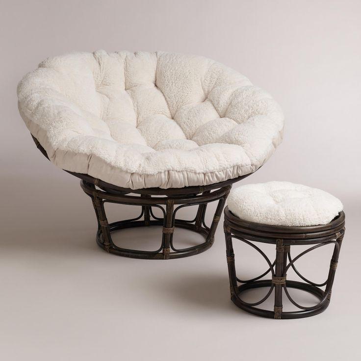 faux fur chair cushion