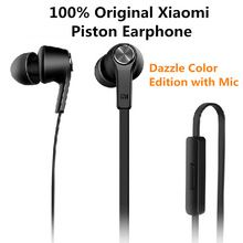 100% Original Xiaomi Pistão fone de Ouvido Fone de Ouvido Estéreo Com Microfone Remoto Música Mi Fones de Ouvido Para Xiaomi Samsung IPhone SE 5S 6 6 s MP3(China (Mainland))